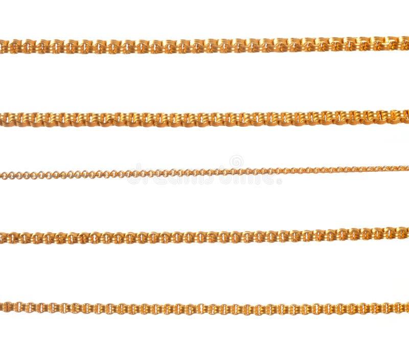 Guld- kedjor royaltyfri bild