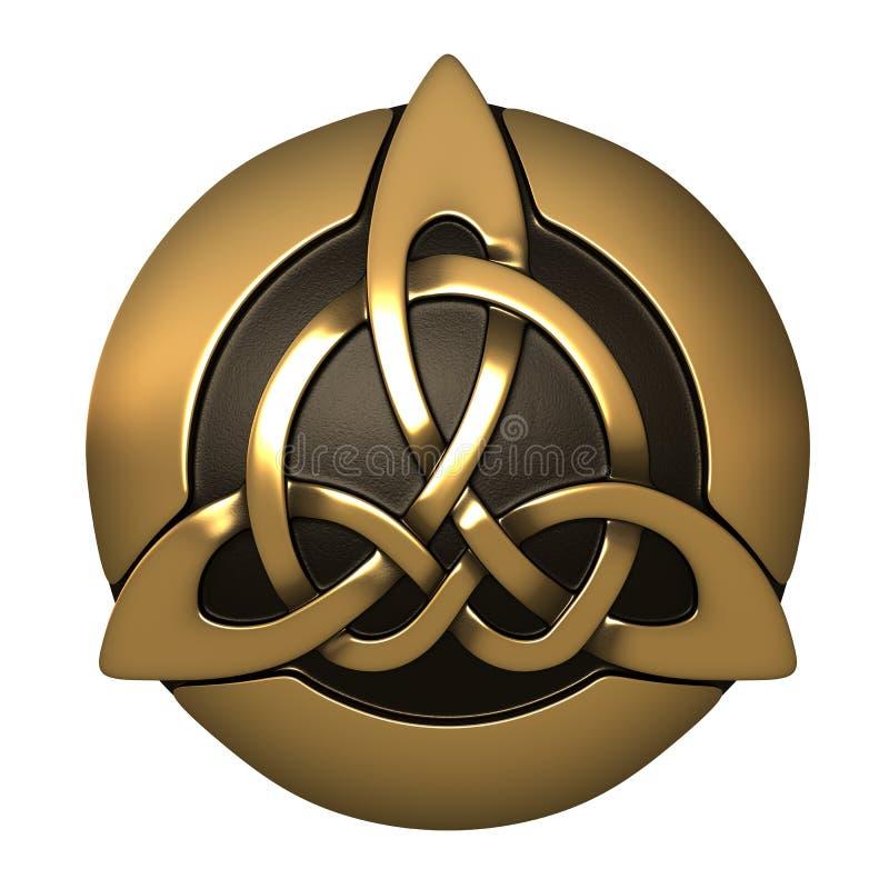 Guld- keltisk prydnad royaltyfri illustrationer