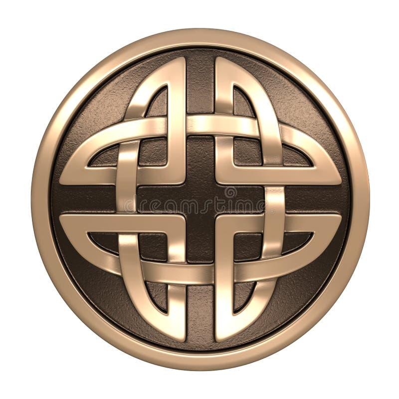 Guld- keltisk prydnad stock illustrationer
