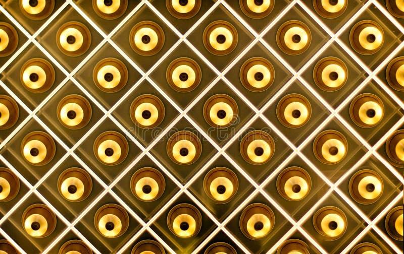 Guld- klocka från bästa sikt royaltyfria foton