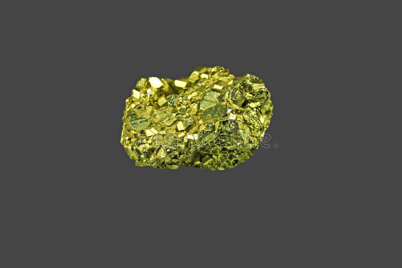 Guld- klump royaltyfri bild