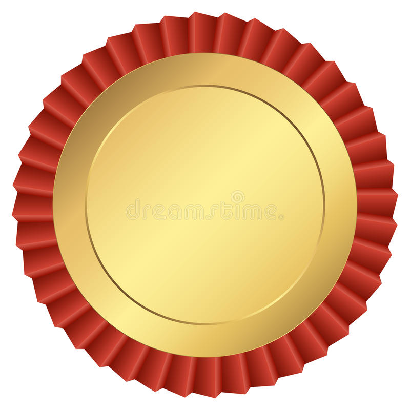 Guld- knapp vektor illustrationer