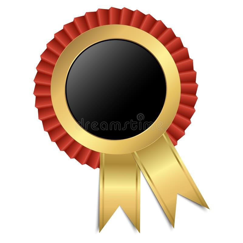 Guld- knapp med bandet royaltyfri illustrationer