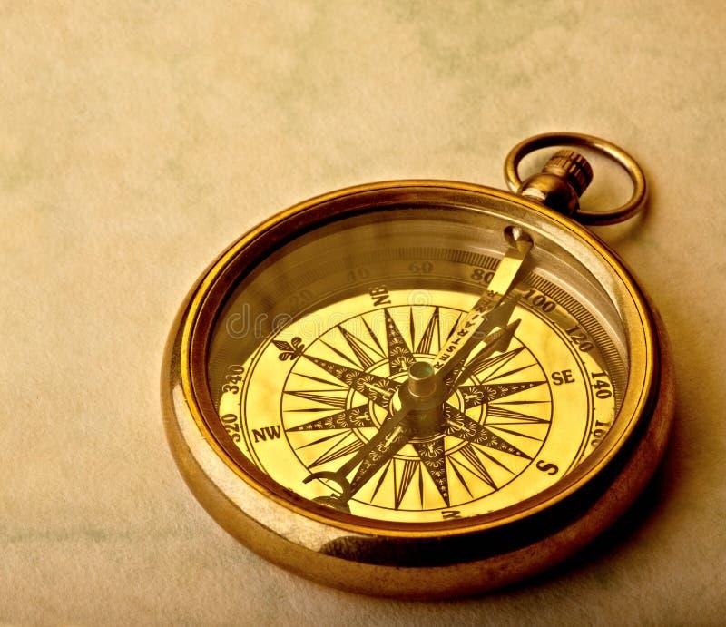 guld- kompass royaltyfria foton