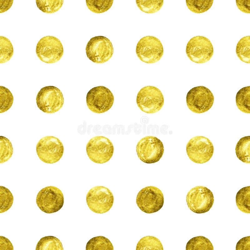 Guld- konfettier blänker bakgrund stock illustrationer