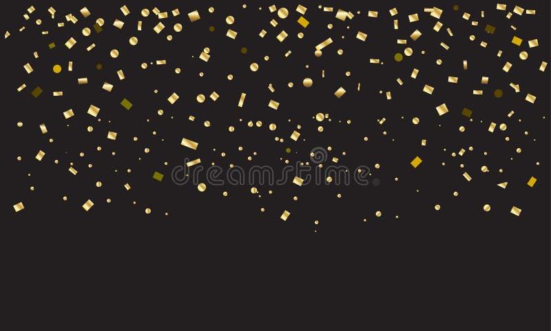 Guld- konfettitappning royaltyfri illustrationer
