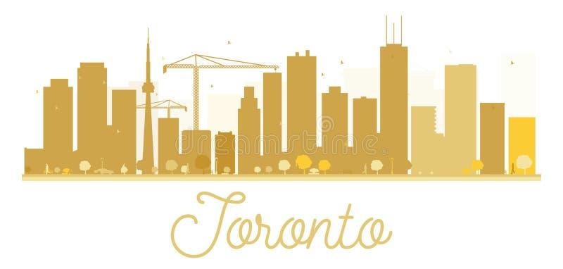 Guld- kontur för Toronto stadshorisont stock illustrationer