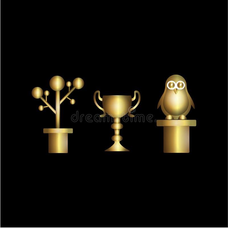 Guld- kopp fotografering för bildbyråer