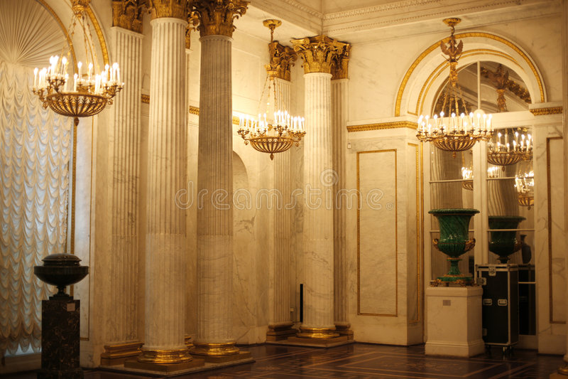 guld- korridoreremitboning royaltyfria bilder