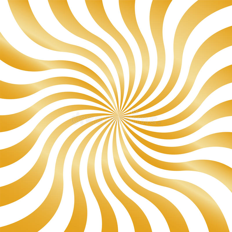 Guld- krabba band som kör från mitten geometrisk abstrakt bakgrund royaltyfri illustrationer