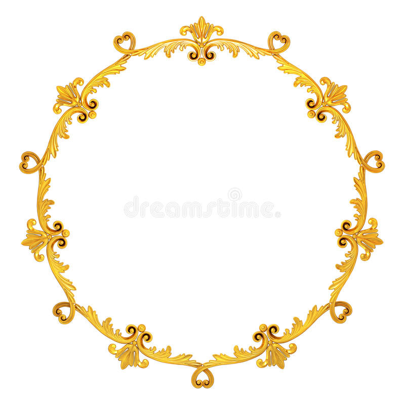 Guld- krans royaltyfri illustrationer