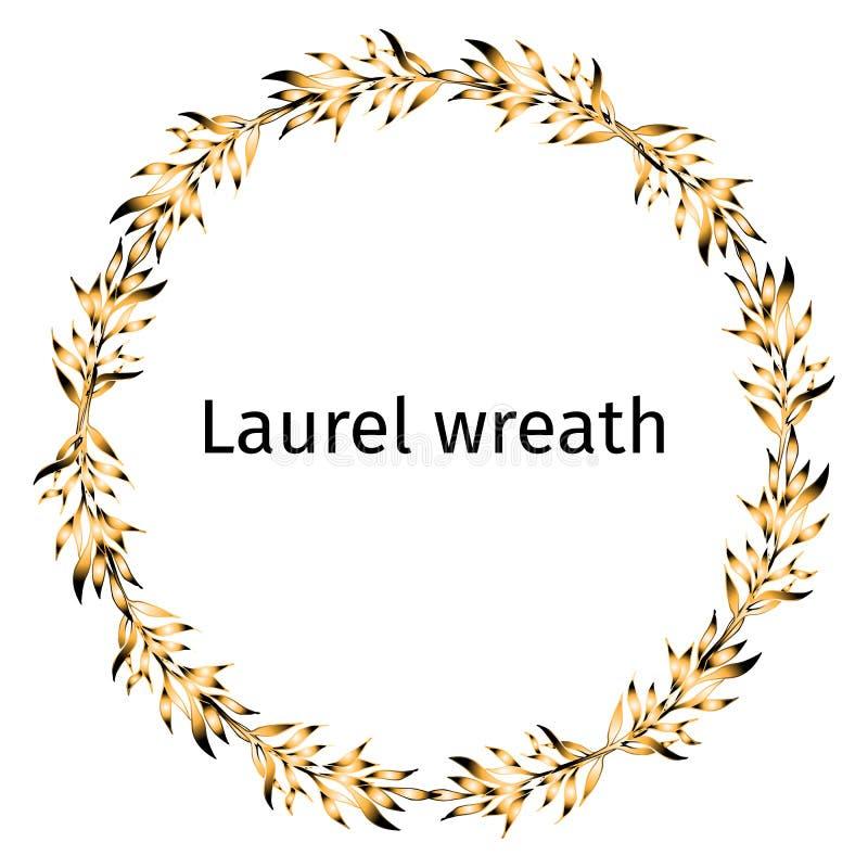 Guld- krans för lager av vinnaren stock illustrationer