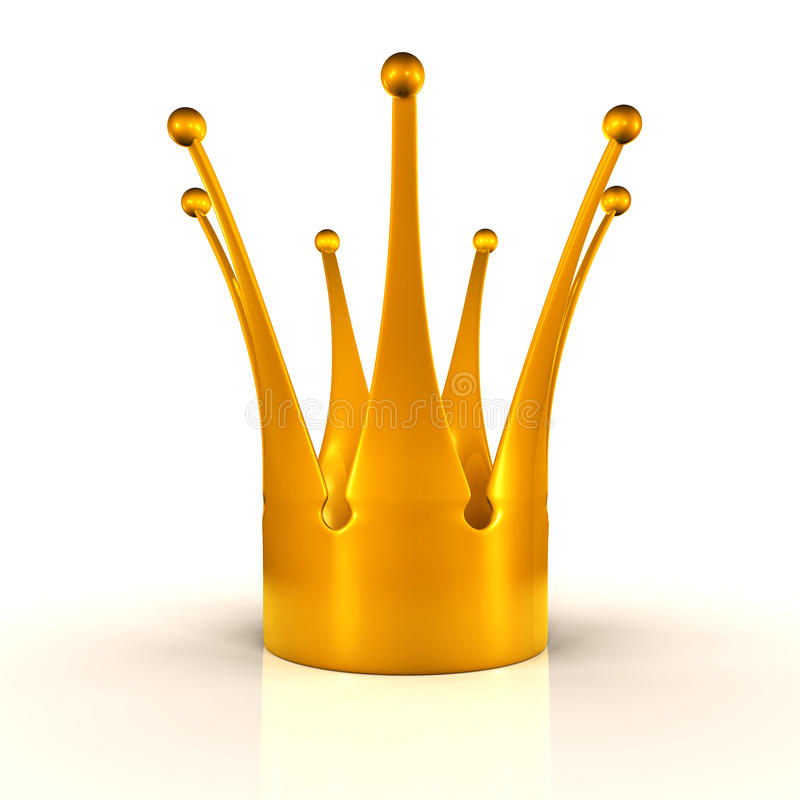 guld- krona arkivfoto
