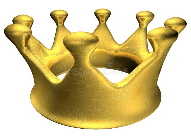 guld- krona royaltyfri foto