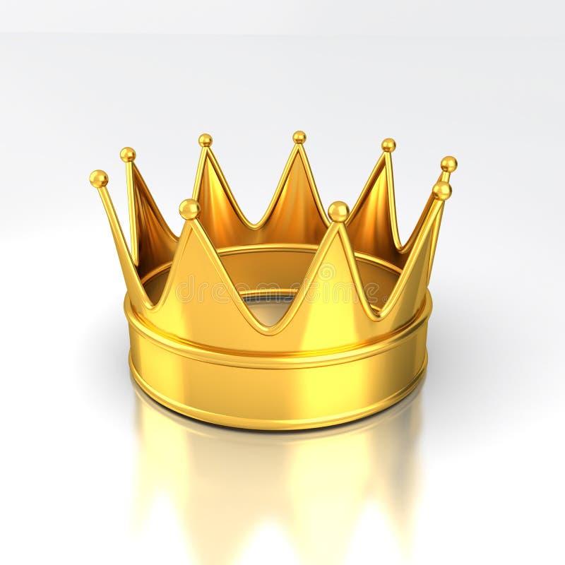 Guld- krona royaltyfri illustrationer