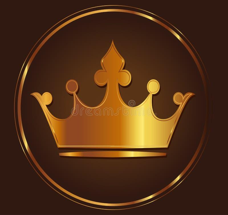 Guld- krona stock illustrationer