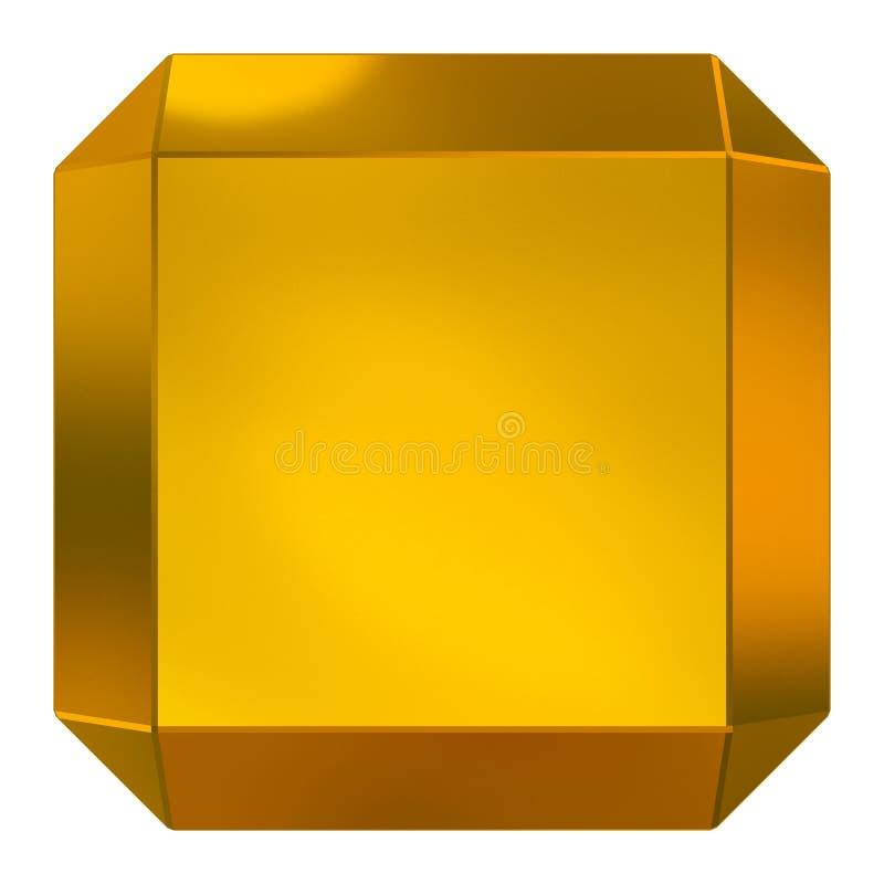 Guld- kub stock illustrationer
