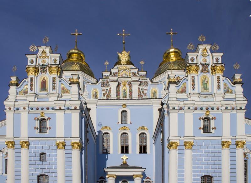 Guld--kupolformig kloster för St Michael ` s i Kyiv, Ukraina royaltyfri bild