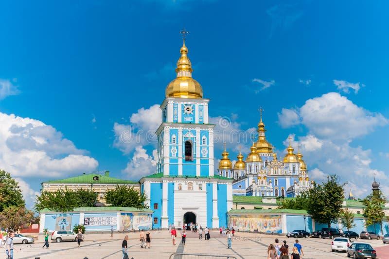 Guld--kupolformig kloster för St Michael ` s Kiev Ukraina royaltyfri fotografi