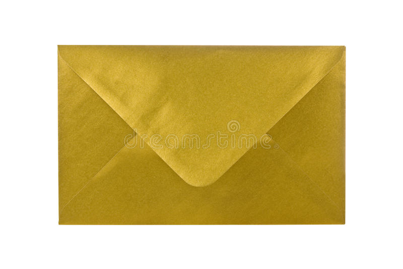 guld- kuvert fotografering för bildbyråer