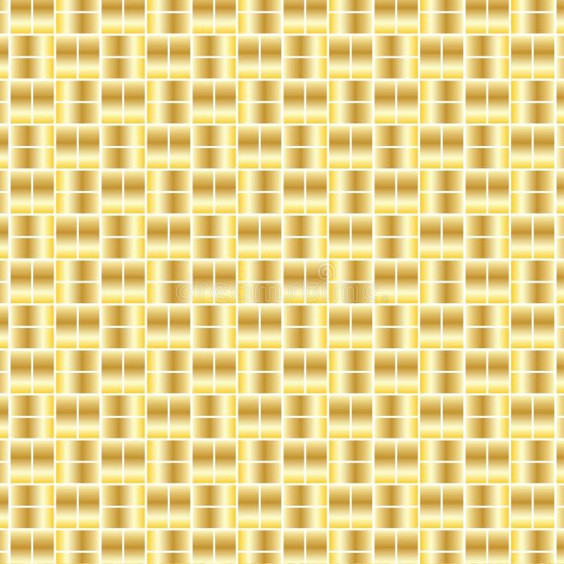 Guld kvadrerar bakgrundsmodellen stock illustrationer