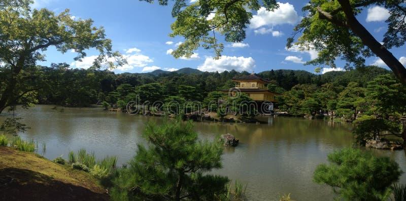 guld- kyoto tempel fotografering för bildbyråer
