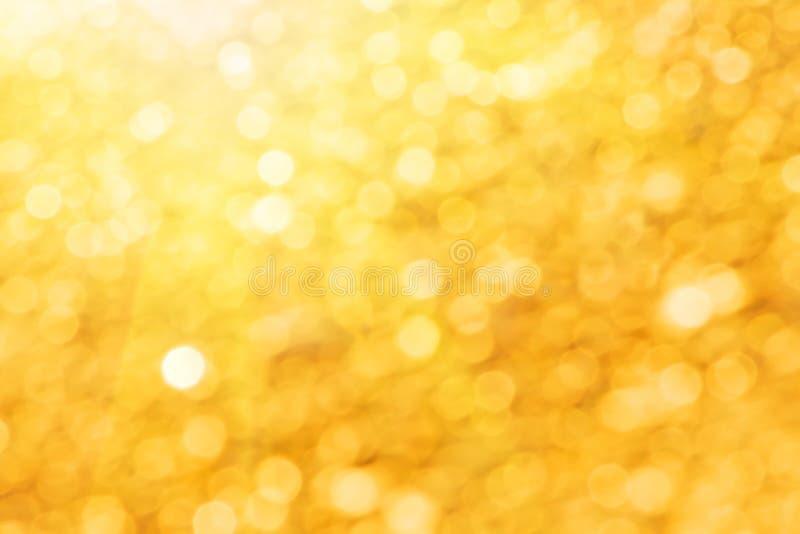 guld- lampor för abstrakt bakgrund arkivbild