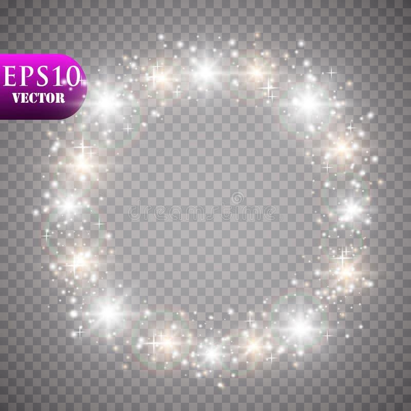 guld- lampor för bakgrund Begrepp för julljus också vektor för coreldrawillustration stock illustrationer