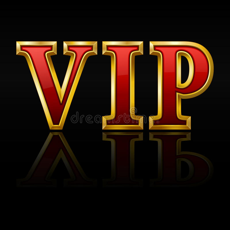 guld letters vip stock illustrationer