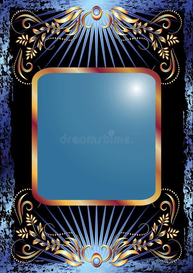 guld- lyxig prydnad för bakgrund royaltyfri illustrationer