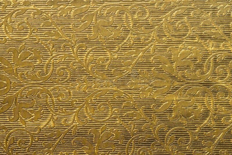 Guld- målad bakgrundstextur fotografering för bildbyråer