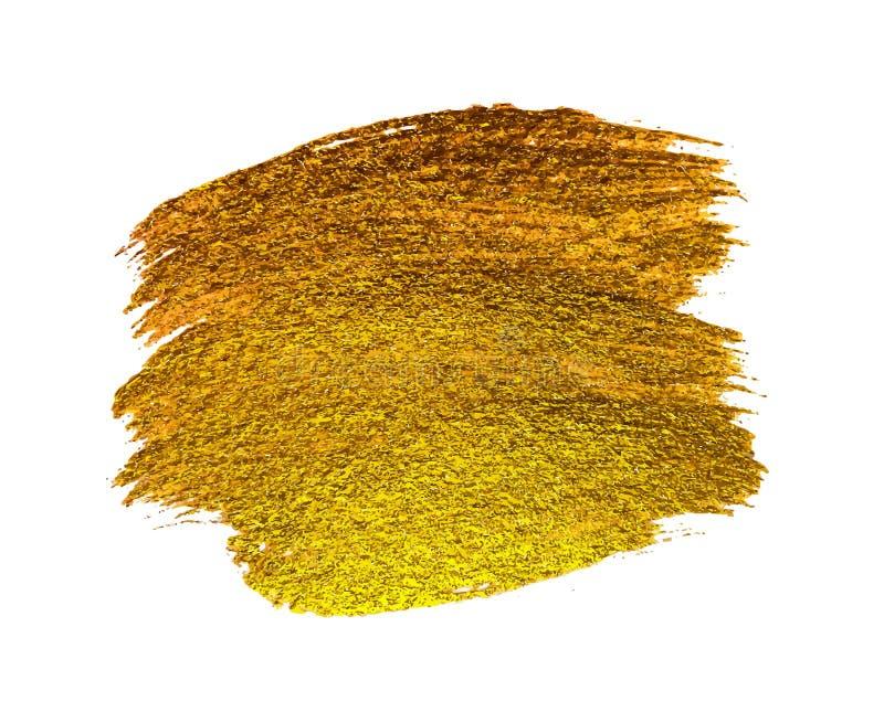 Guld- målarfärg som blänker texturerade Art Illustration också vektor för coreldrawillustration stock illustrationer