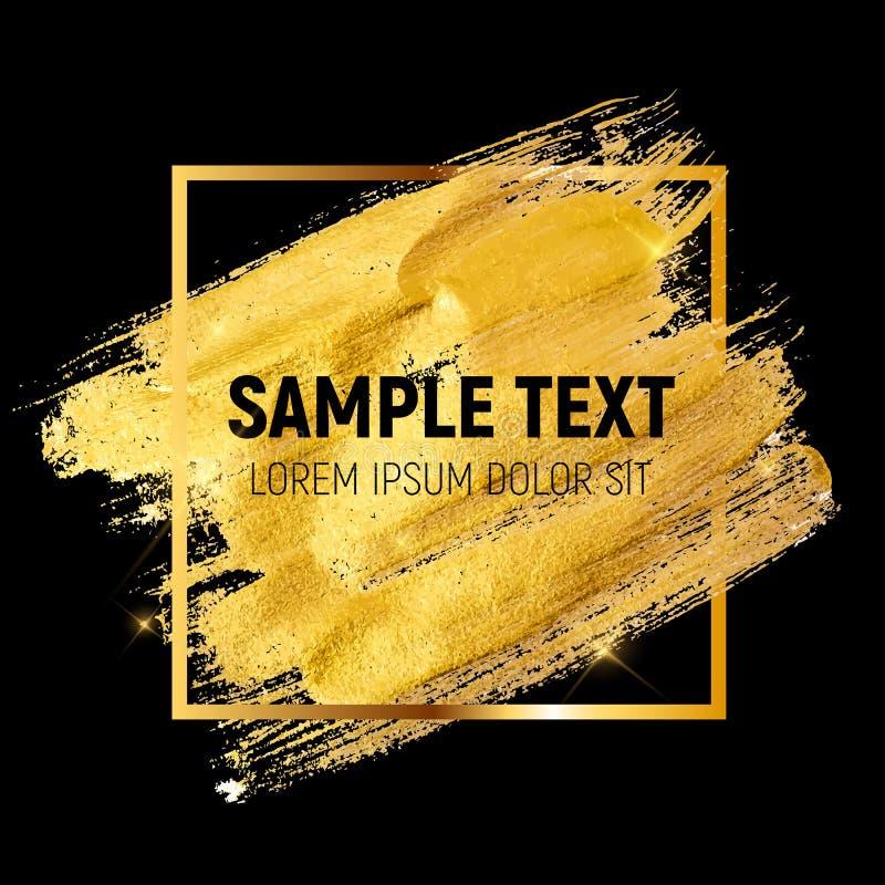 Guld- målarfärg som blänker texturerade Art Illustration vektor stock illustrationer