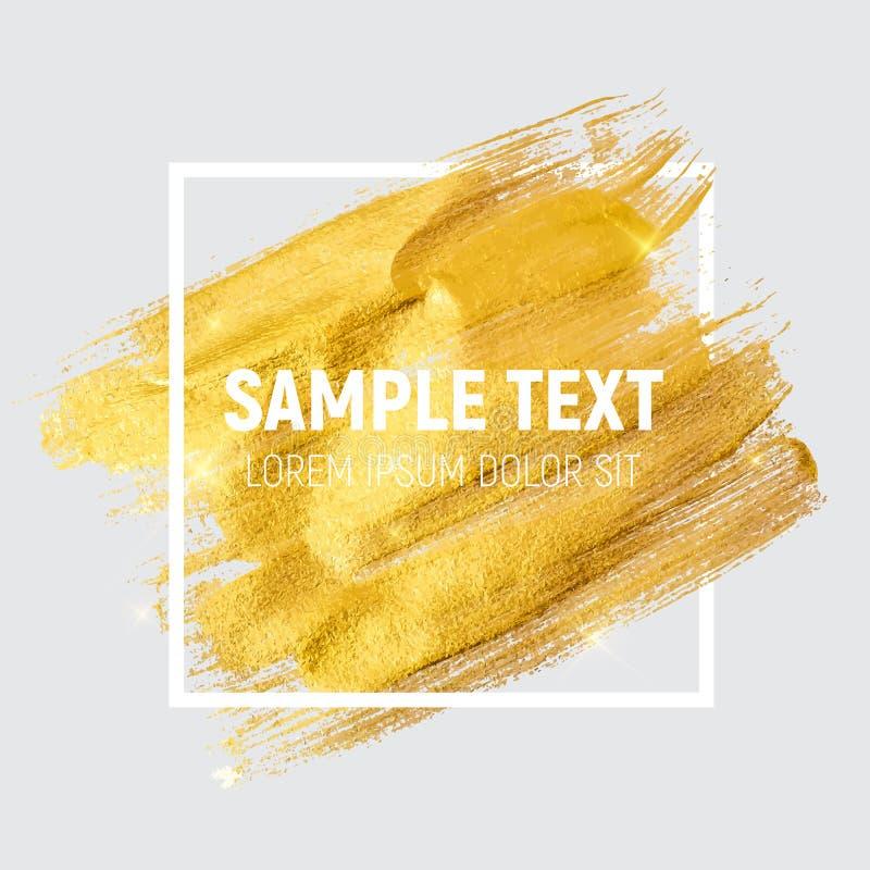Guld- målarfärg som blänker texturerade Art Illustration Vektorillustra royaltyfri illustrationer
