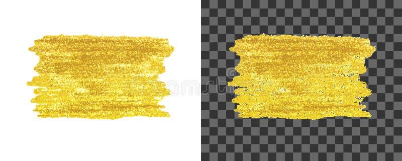 Guld- målarfärgslaglängder vektor illustrationer
