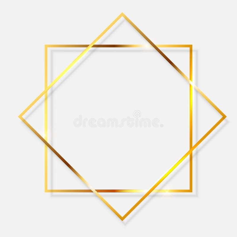 Guld- m?larf?rg som bl?nker den texturerade ramen p? genomskinlig bakgrund ocks? vektor f?r coreldrawillustration vektor illustrationer