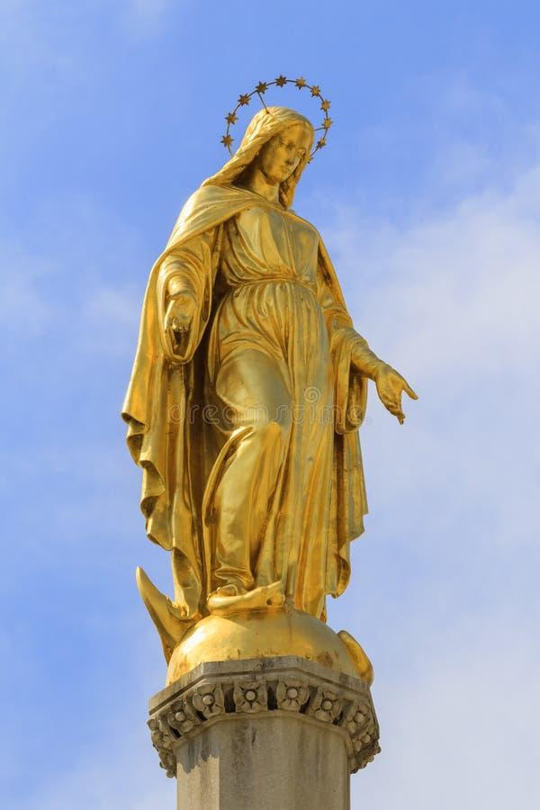 Guld- Madonna av Zagreb royaltyfri fotografi