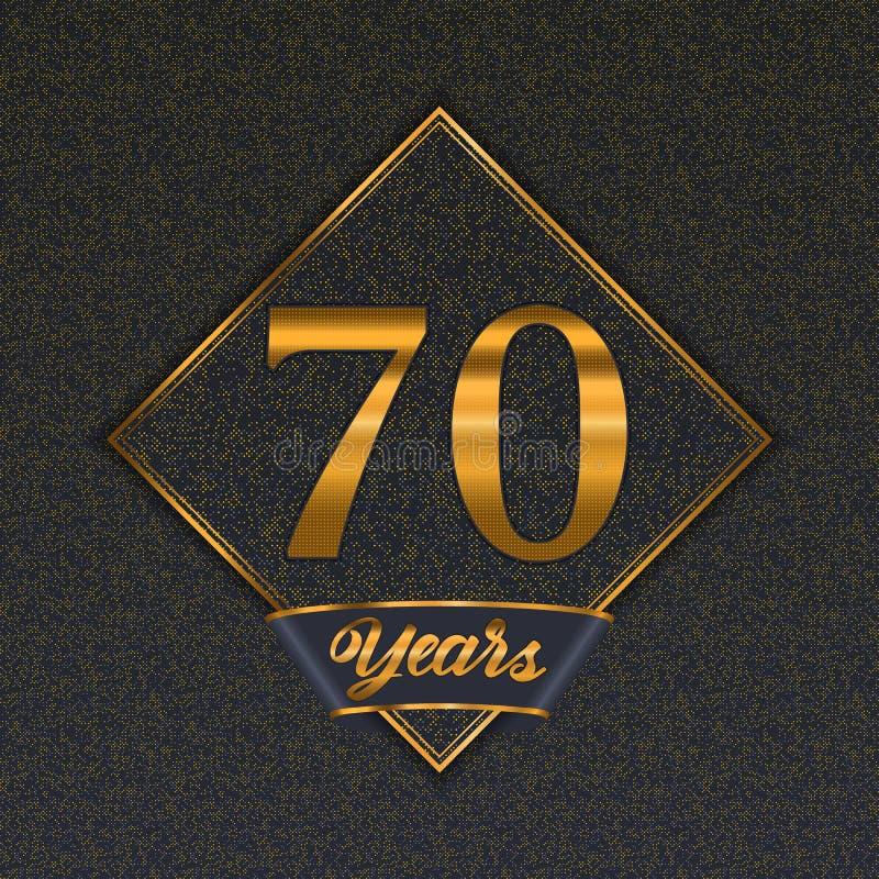 Guld- mallar för nummer 70 vektor illustrationer