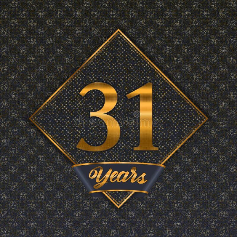 Guld- mallar för nummer 31 stock illustrationer