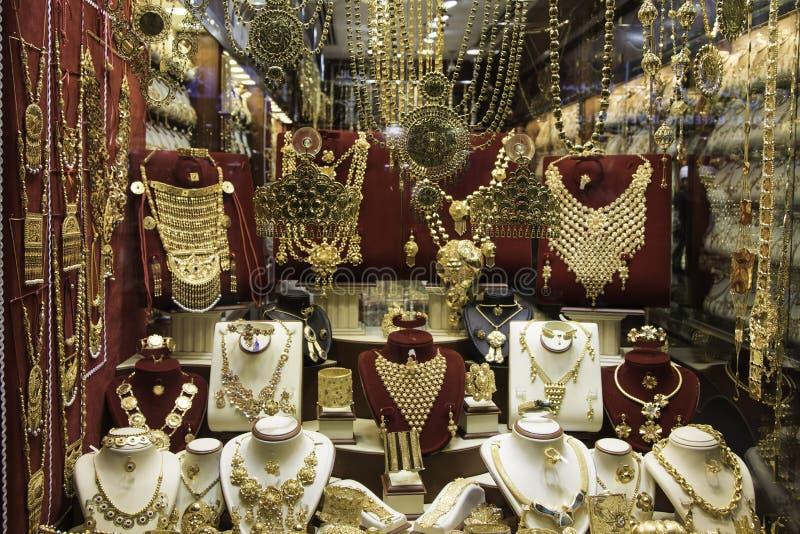 Guld- marknad royaltyfri bild