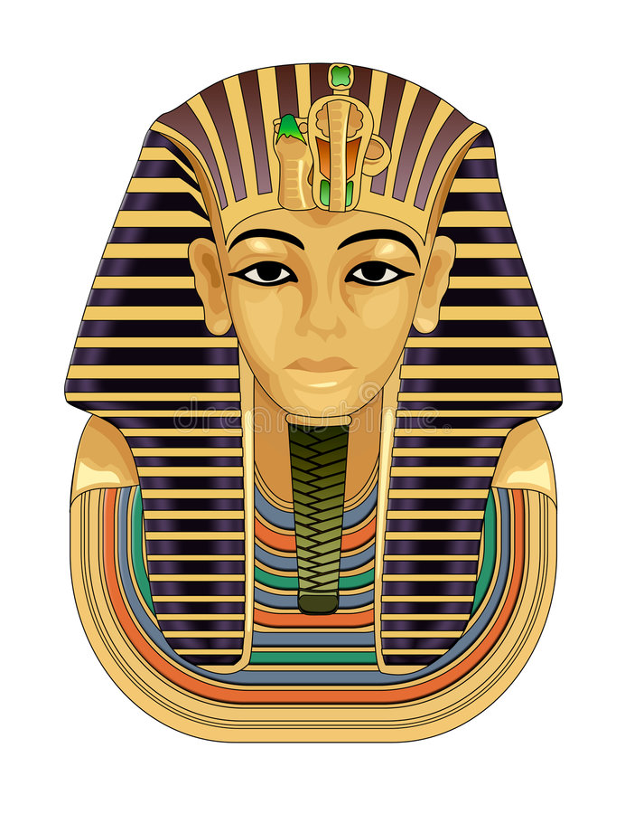 guld- maskeringspharaoh för död royaltyfri illustrationer