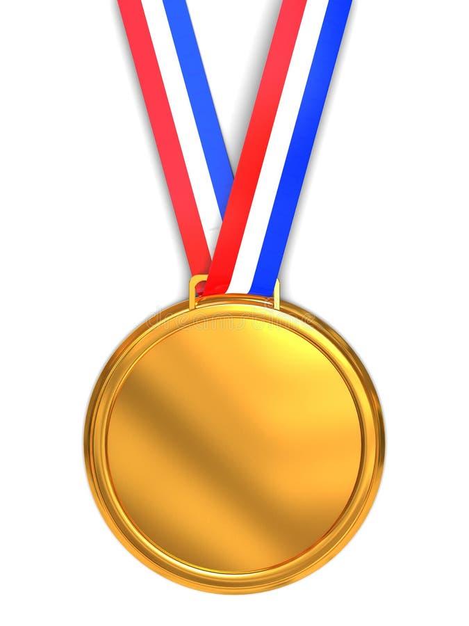 guld- medalj royaltyfri illustrationer