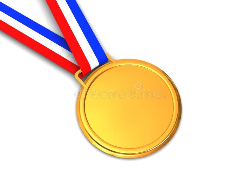 guld- medalj vektor illustrationer