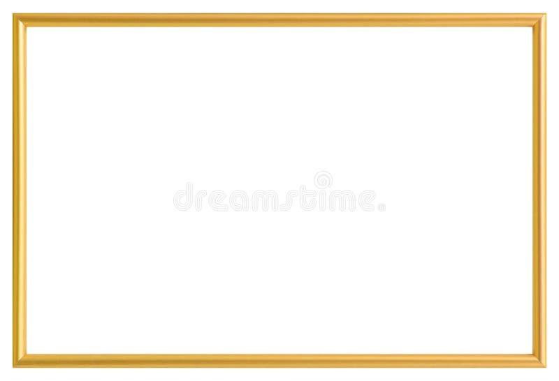 Guld- metallfotoram som isoleras på white royaltyfri fotografi