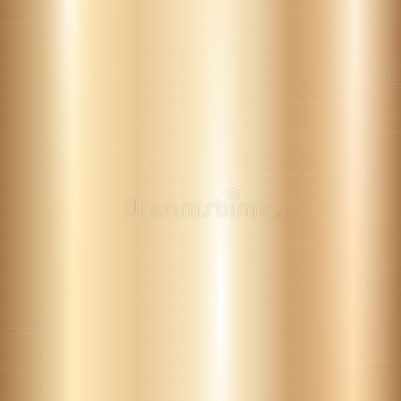 Guld- metallisk lutning vektor illustrationer