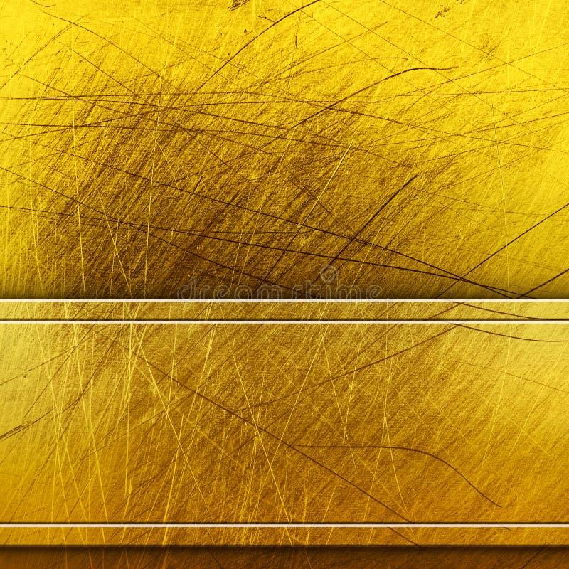 guld- metallplatta royaltyfri illustrationer