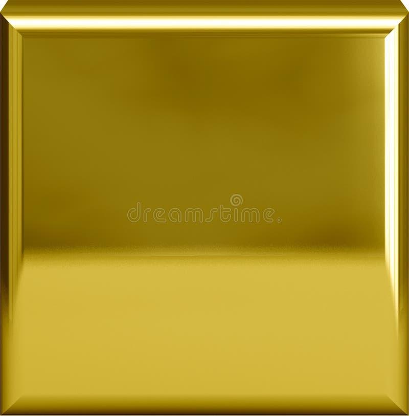 Guld- metallplatta eller period/fullstop royaltyfri illustrationer