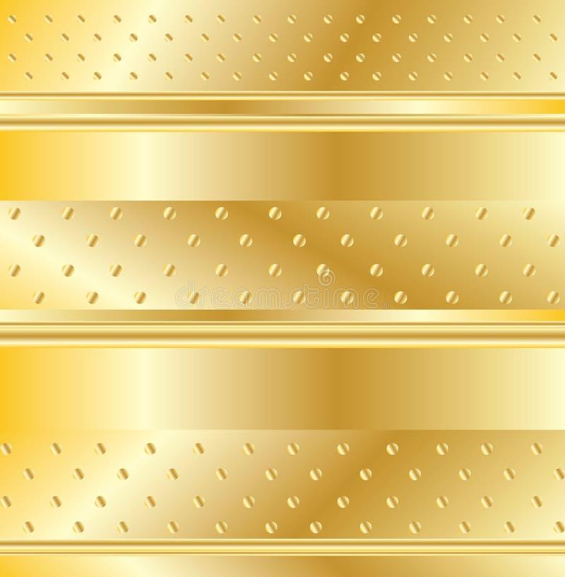 Guld- modell royaltyfri illustrationer