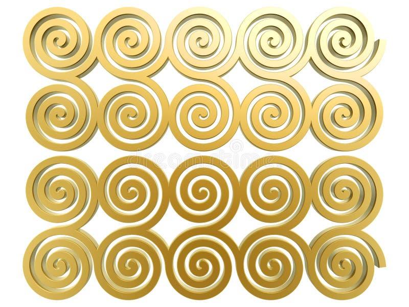 guld- modell för kinesisk oklarhet stock illustrationer