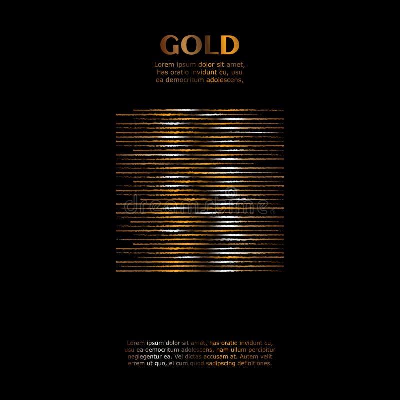 Guld- modell för rodnad Abstrakt guld- kvartsbakgrund också vektor för coreldrawillustration stock illustrationer